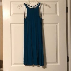 Teal Express Tank Swing Dress
